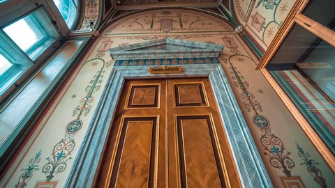 SAINT PETERSBURG, RUSSIA - FEB, 2017: Interior artworks,decor and architecture. Raphael Loggias The Hermitage Museum St Petersburg Russia
