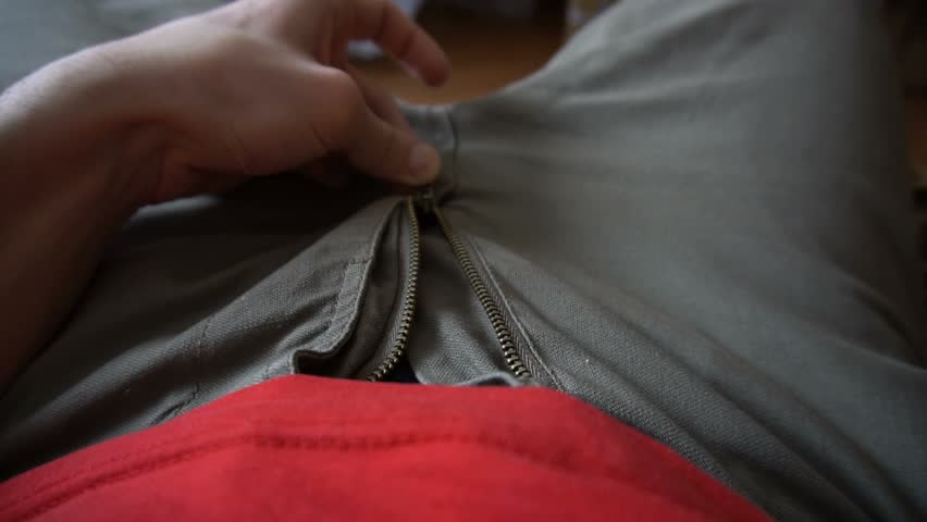 Wife unzipping his pants black dick