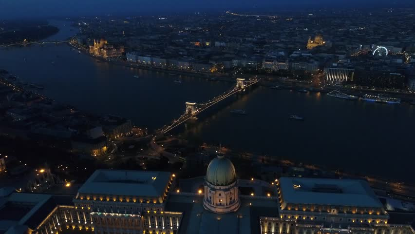Aerial View Budapest Night  | Shutterstock HD Video #26372480