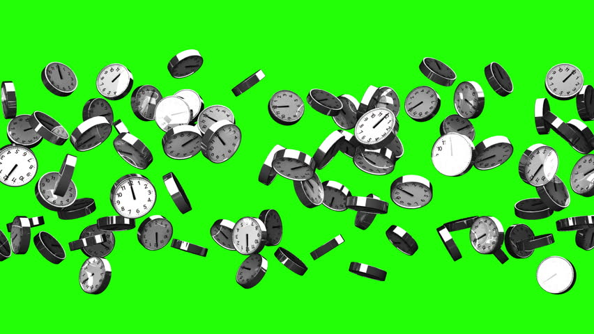 Clocks On Green Chroma Key. Loop able 3DCG render Animation.   Shutterstock HD Video #26379470