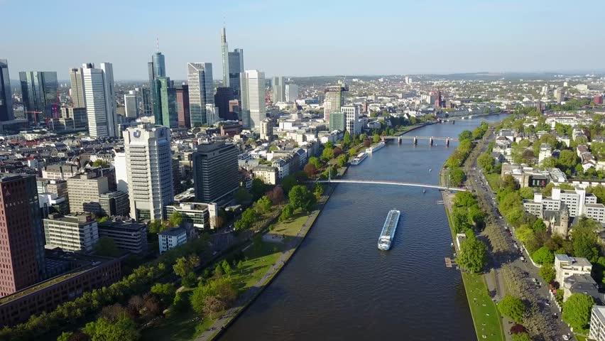 Aerial View Frankfurt Main