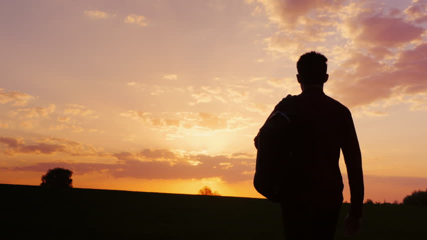 Person Sitting Silhouette Sunset