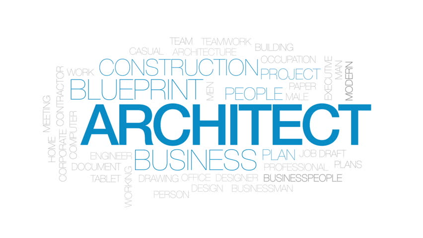 Network Architecture Animated Word Cloud Text Design