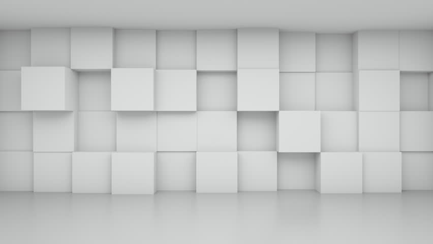 Abstract White Cubes Room, 3d Animation 4k | Shutterstock HD Video #26440490