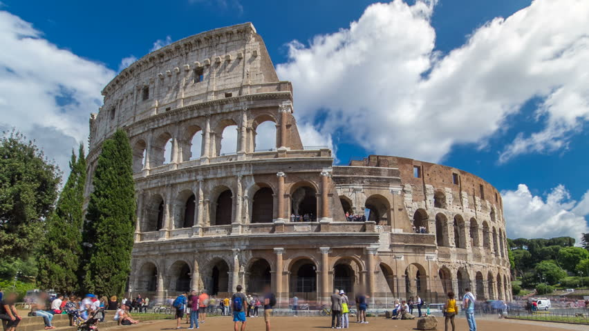 The Colosseum Or Coliseum Timelapse Hyperlapse, Also Known