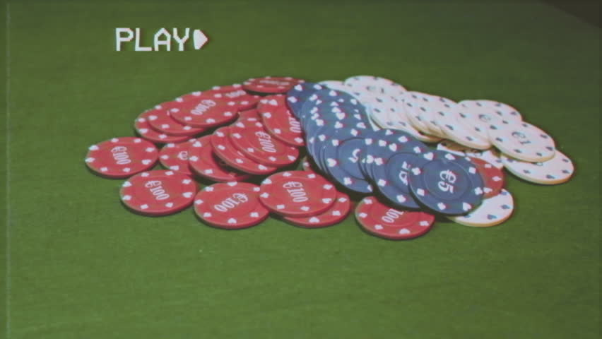 Fake VHS tape: poker chips grabbed by us (we have the player's point of view) after showing the winning cards.