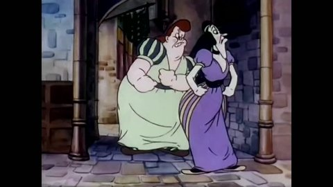 1940s: Cinderella's evil stepsisters enlist the help of a witch in conspiring against her, but a little gnome rushes off to warn Cinderella of the danger