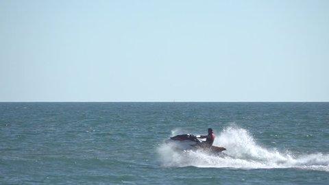 Slow Motion. Jet Ski.