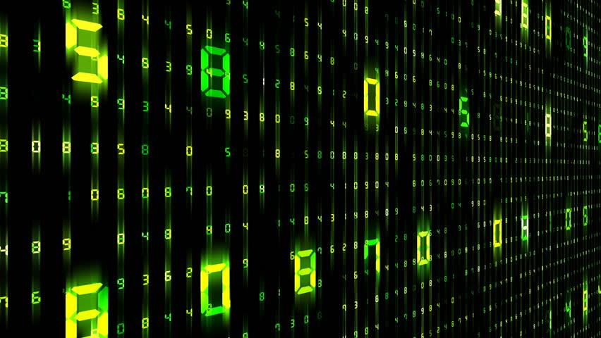 Digital world data space number text. | Shutterstock HD Video #26609177