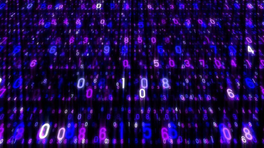 Digital world data space number text. | Shutterstock HD Video #26609210