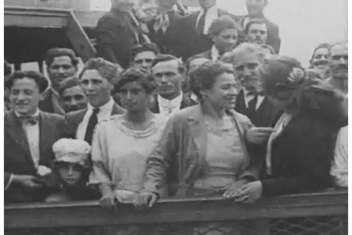 1920s: Immigrants arriving at Ellis Island are examined by United States Public Health Service doctors, in 1938.