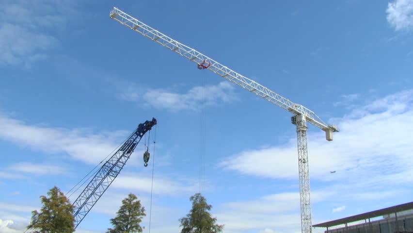Construction crane pulley