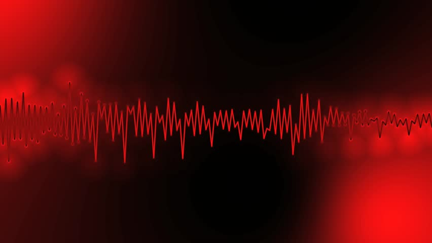 Abstract Red Background For Use With Music Videos Audio