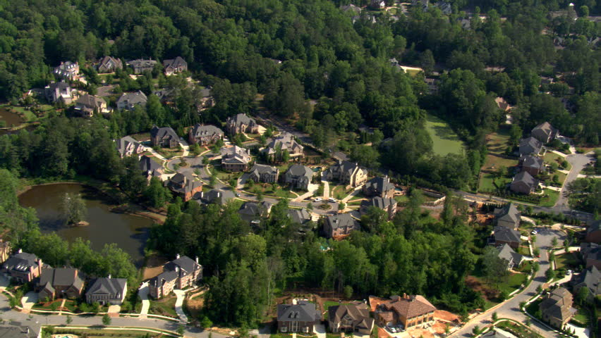Flying Over Upscale Neighborhood In Stock Footage Video 100 Royalty Free 26695330 Shutterstock