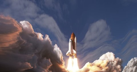 Space Shuttle Launch Animation, 4K some elements furnished by NASA images