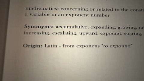 Exponential Definition