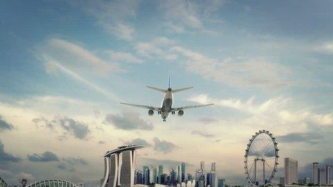 Airplane Landing Singapore new4