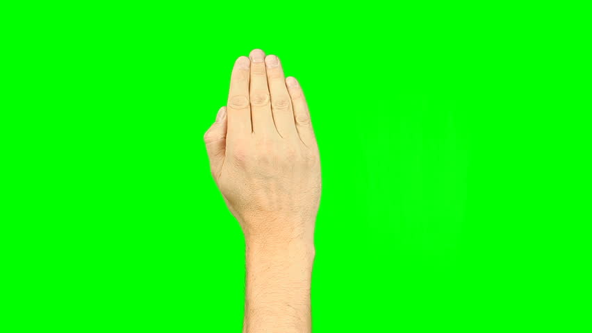 All gestures with 3-5 fingers. Set of 11 gestures. Green screen. Tap swipe scroll double tap draw gestures touch pad touchscreen tablet smartphone kinetics gadget. Solid green instead alpha channel. | Shutterstock HD Video #26810950
