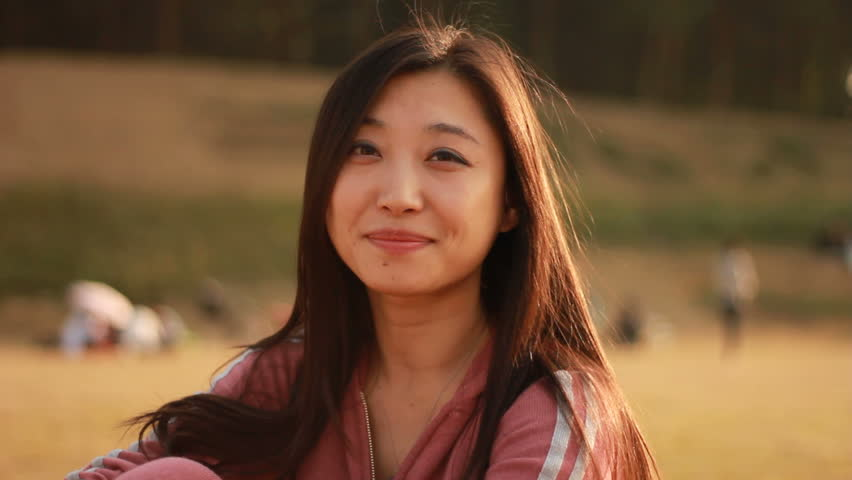 asian woman smiling
