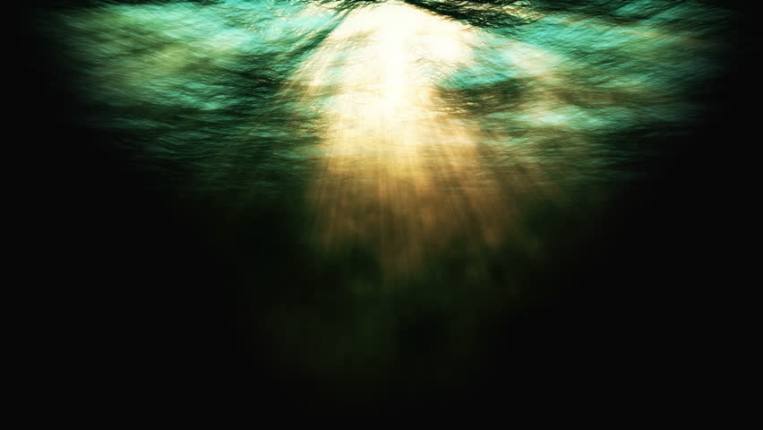 Underwater animation background stock footage. An animated underwater scene with light rays shining through the surface and underwater swells.  | Shutterstock HD Video #26917078