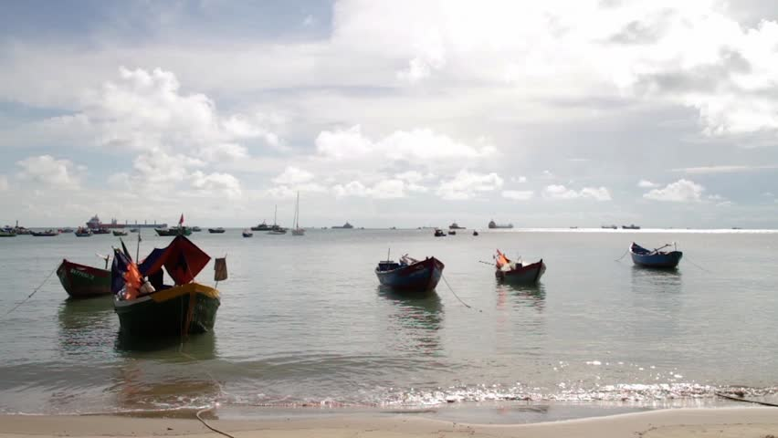 These boat in harbor at Vung Tau city.   Shutterstock HD Video #26942026