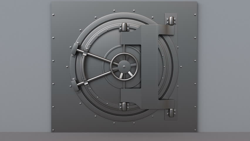 3d Animated Vault Door Opening Stock Footage Video 100