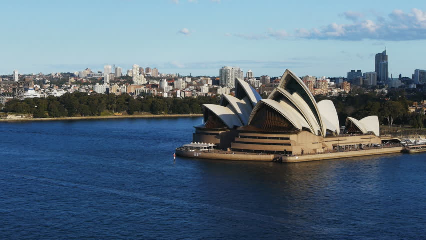 SYDNEY, AUSTRALIA - AUGUST 19: Sydney Opera House zoom in view on August 19, 2012 in Sydney, Australia, viewed from the Harbour Bridge