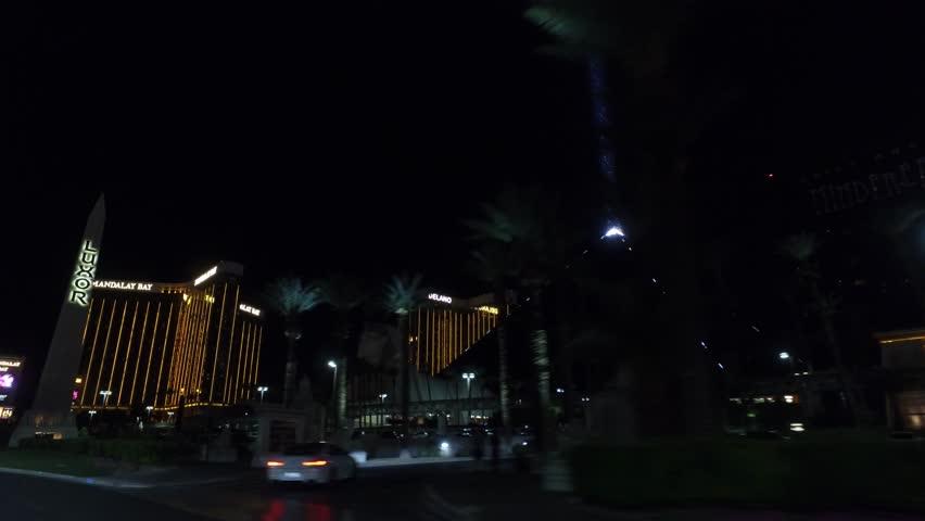 Pyramid of Luxor Hotel and Casino at night - LAS VEGAS / NEVADA - APRIL 22, 2017