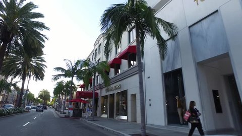 c3a3a7a905 Michael Kors - Exclusive shops at Rodeo Drive in Beverly Hills - drive by  shot -