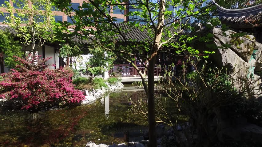 a walk through the chinese garden in portland portland oregon april 15 - Bamboo Garden 2016