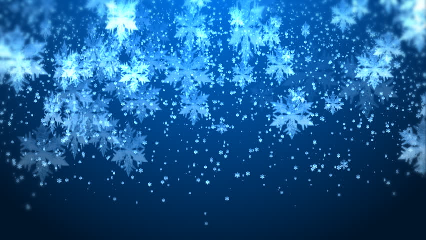 winter snow fall christmas background stock footage