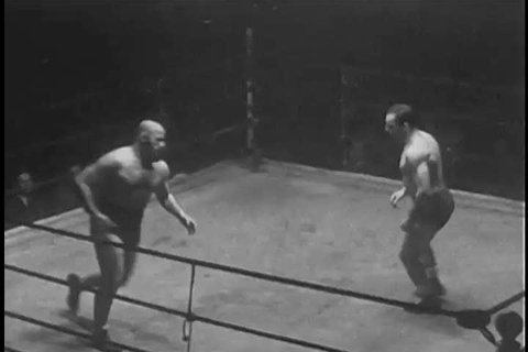 1930s: Professional wrestler Tony Slano is beaten in a match at St. Nicholas Arena, in New York City, in 1935.