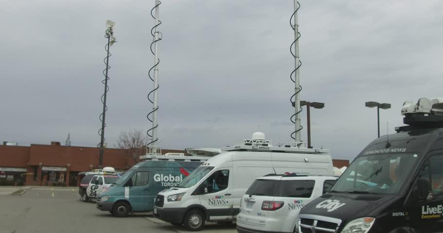 Toronto Ontario Canada April Broadcast Television News Live - Live satellite video