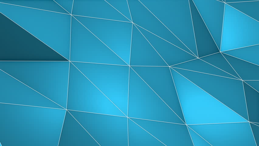 Elegant Polygonal Surface Triangular Polygons with Outlines Mesh of Triangles Low Poly Waves on a Plane Seamless Looping Motion Background Pleasant Blue | Shutterstock HD Video #27203560