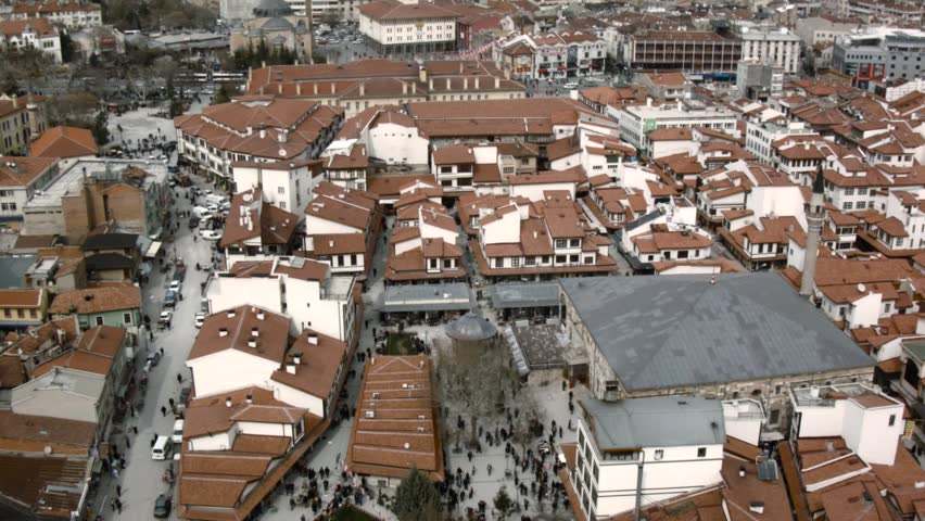 Aerial view of the konya, semazen