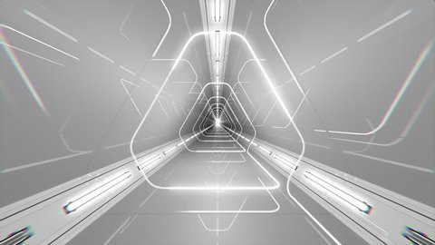 VJ Loop Triangle Tunnel