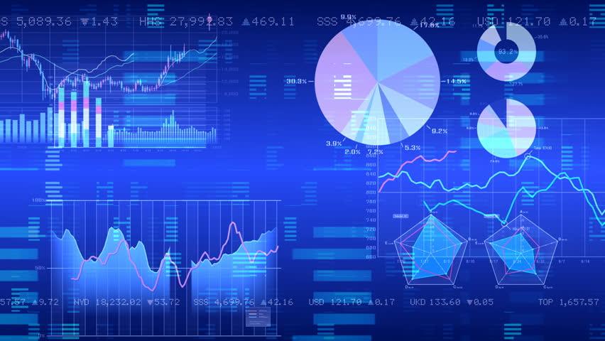 Business data graph digital world space. | Shutterstock HD Video #27301420