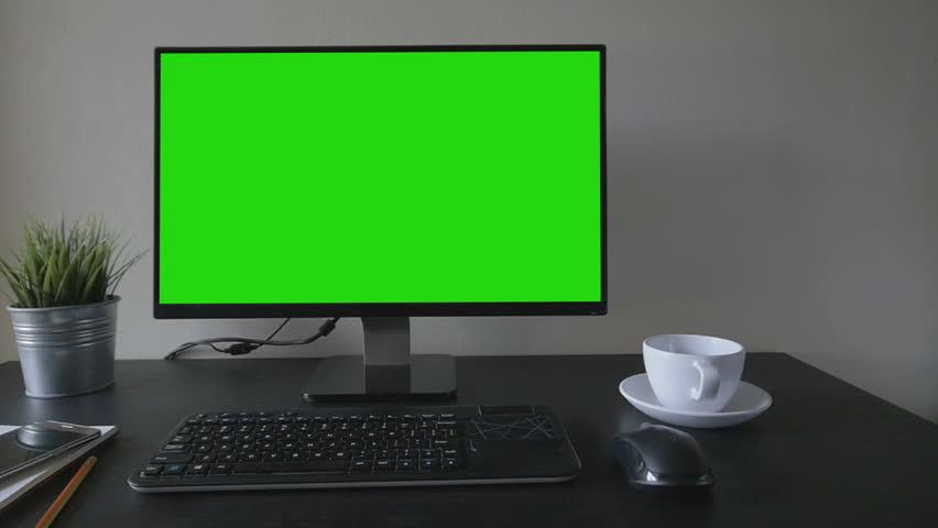Green screen desktop set on table | Shutterstock HD Video #27313150