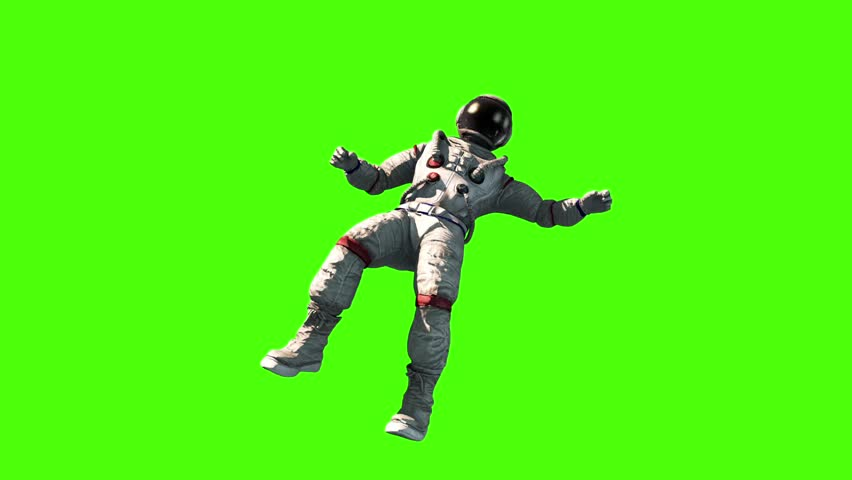Astronaut Fly Flip Space Earth Green Screen 3D Rendering Animation | Shutterstock HD Video #27325180