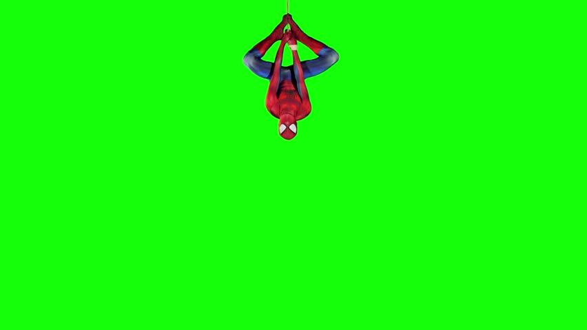 Editorial animation: Spiderman upside down