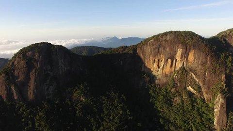 Aerial View of Mountains Landscape, Rio de Janeiro, Brazil