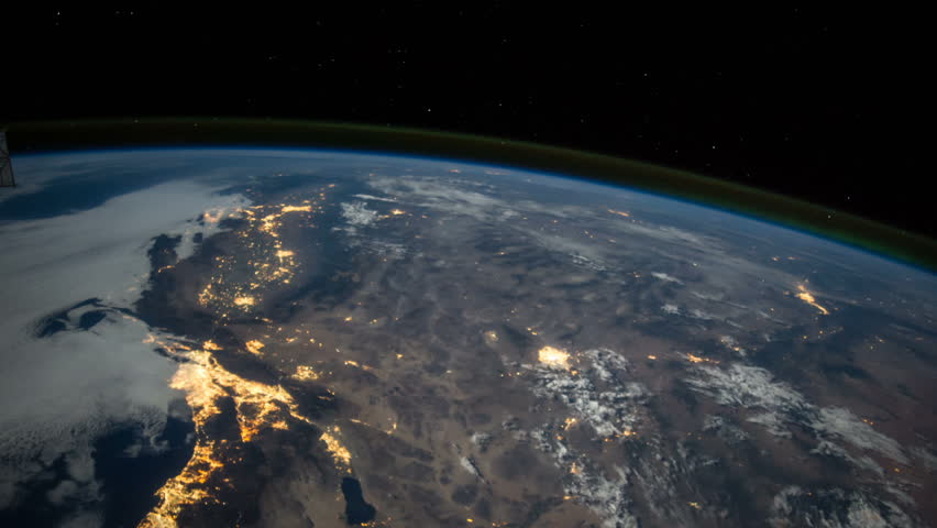 Sunrise Over Europe The European States From Space Clip Contains - Satellite footage