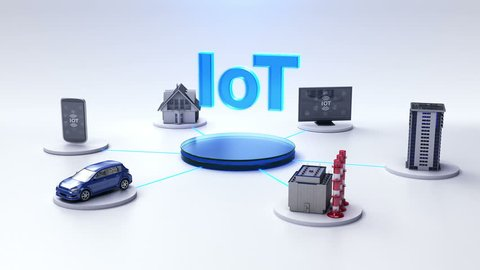 Smart house, Factory, Building, Car, Mobile, internet sensor connect IoT, artificial intelligence. Internet of things