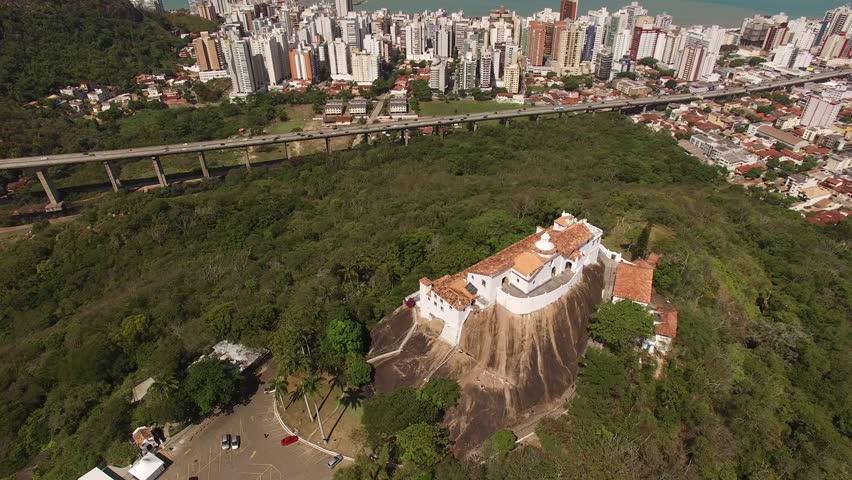 Aerial View of Vitoria city in Espirito Santo, Brazil