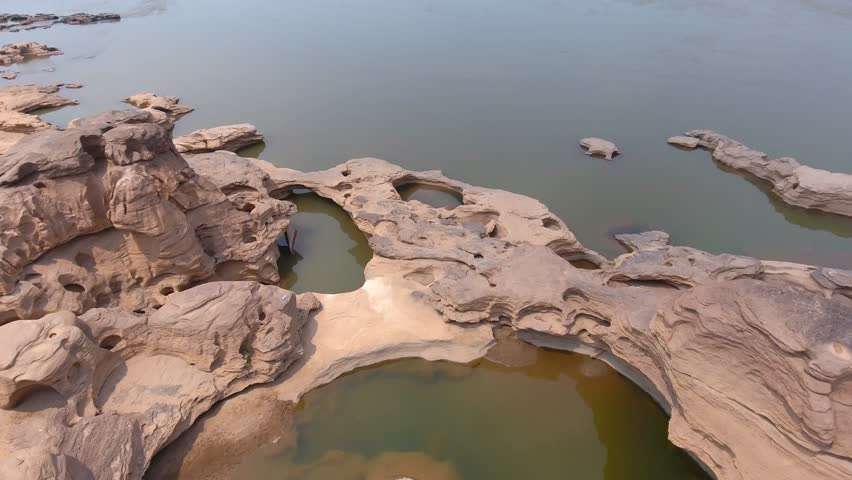 """Sampanbok Thailand"" Sampanbok Mekong River In Ubonratchathani Thailand"