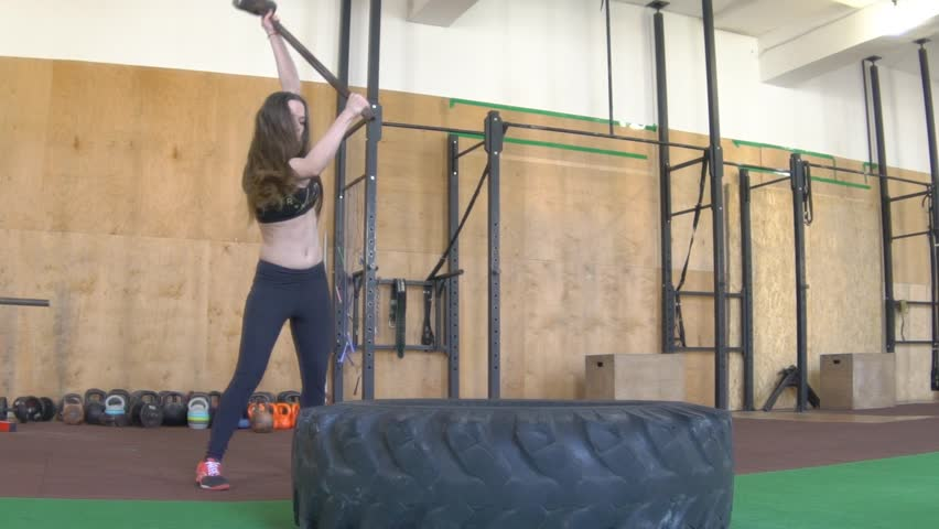 Stock Video Of Three People Crossfit Training At A 11319476