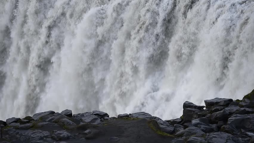 Dettifoss - most powerful waterfall in Europe. Jokulsargljufur National Park, Iceland.   Shutterstock HD Video #27437410
