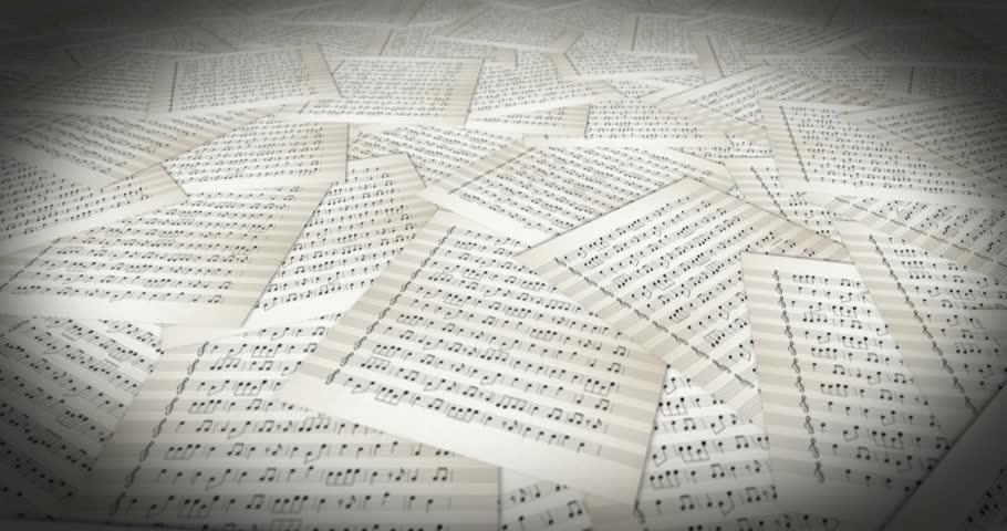 Musical Sheet travelling loop | Shutterstock HD Video #27444847