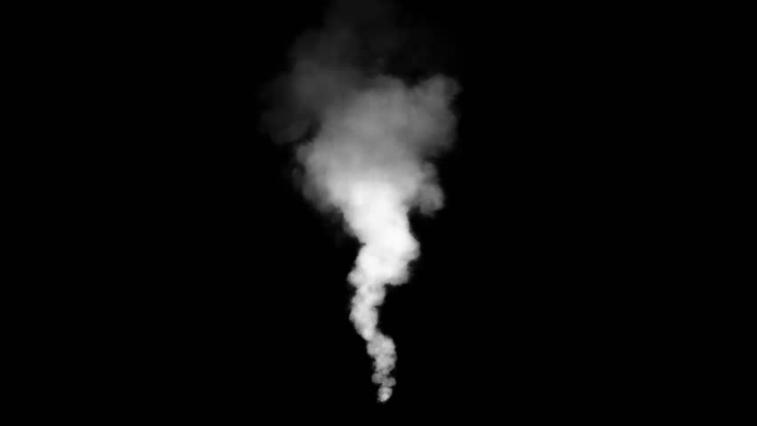 Stock Footage of private house chimney smoke in winter