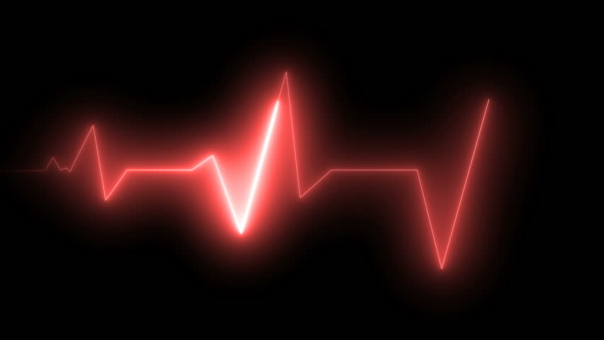 ECG health medical monitor. Seamless loop